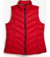 tommy hilfiger women's adaptive puffer vest tango red - xs