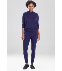 natori kyoto textured knit pants, women's, cotton, size l