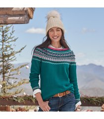 fair fable sweater - petites