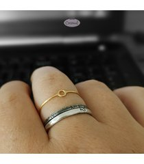 srebro złocone: pierścionek slim eclipse