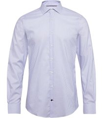 stripe flex collar slim shirt skjorta business blå tommy hilfiger tailored