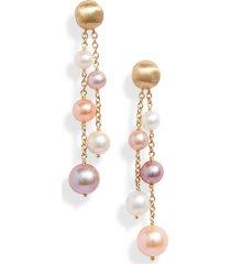 women's marco bicego africa double strand pearl earrings