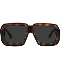 loewe x paula's ibiza 56mm mask sunglasses in shiny classic havana/smoke at nordstrom