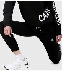 pantalón negro-blanco calvin klein
