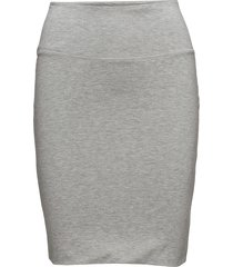 penny skirt knälång kjol grå kaffe