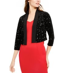 calvin klein sequined shrug
