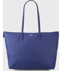 bolso azul lacoste