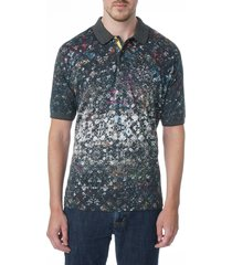 robert graham men's blackmore polo shirt - size m