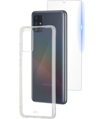 case-mate protection pack tough clear case and glass screen protector for samsung galaxy a51