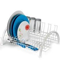 escorredor de louças evolution para 15 pratos emborrachado branco