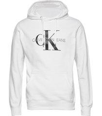 monogram regular hoo hoodie vit calvin klein jeans