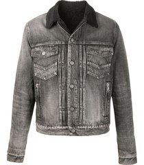 balmain grey cotton denim jacket