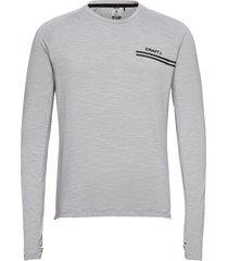 core sence ls tee m t-shirts long-sleeved grå craft