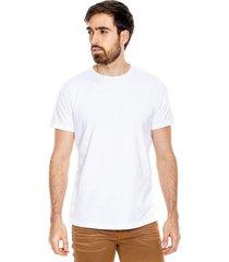 camiseta cuello redondo unicolor color blue