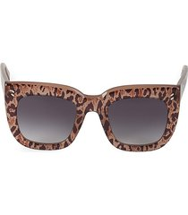 stella mccartney women's 51mm oversized squared cat eye sunglasses - black