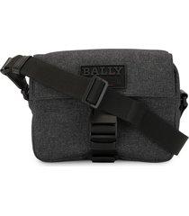 bally buckle-fastening shoulder bag - grey