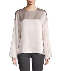 flowy silk blouse