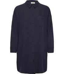 evelyn shirt långärmad skjorta blå modström