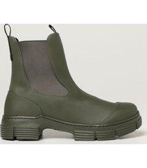 ganni flat booties shoes women ganni