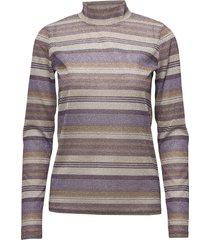 shine turtleneck ma18 t-shirts & tops long-sleeved paars gestuz