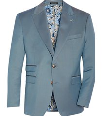 tayion classic fit suit separates coat teal
