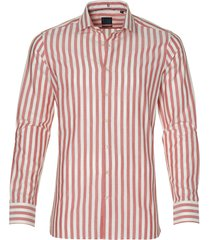 nils overhemd - bodyfit - rood
