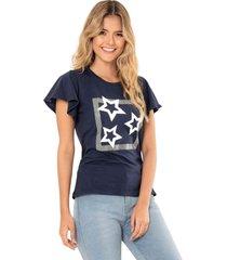 camiseta stars azul ragged pf51120572