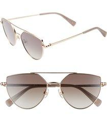 women's rebecca minkoff stevie2 55mm aviator sunglasses -