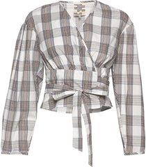 mianne blouse lange mouwen multi/patroon baum und pferdgarten