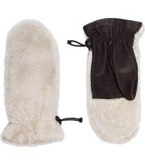 agnelle cosetta two-tone gloves - grey