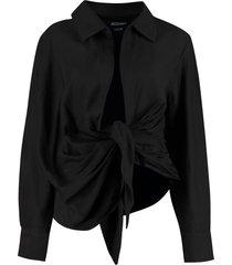 jacquemus bahia draped shirt