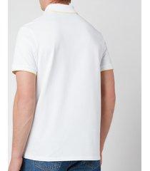 a.p.c. men's max polo shirt - white - m