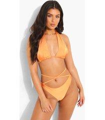 tropicana hipster bikini broekje met bandjes, orange