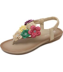 sandalias femeninas étnicas zapatos de playa
