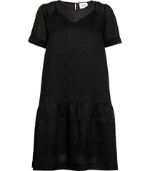 aida dress knälång klänning svart second female