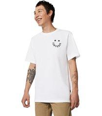 converse camiseta smiley white