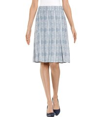 kjol alba moda marinblå::vit