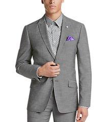 ben sherman gray extreme slim fit suit