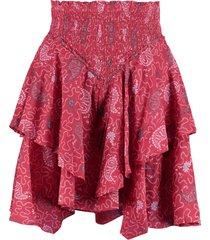 isabel marant étoile also cotton mini-skirt