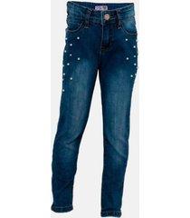 jeans azul aplicación perlas family shop