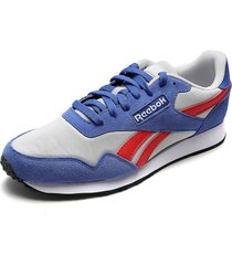 tenis running blanco-azul-rojo reebok royal ultra
