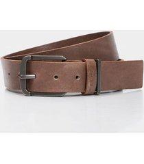 cinturón unifaz de cuero para hombre doble pasador