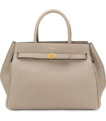 mulberry belted bayswater tote - grey