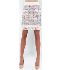 akira business as usual tweed sweater skirt