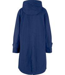 cappotto svasato in cotone con fodera fantasia e cappuccio (blu) - bpc bonprix collection