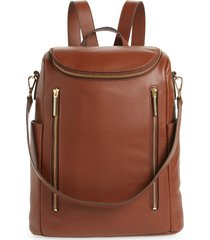 nordstrom sodo leather backpack - brown