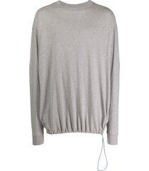 unravel project drawstring sweatshirt - grey