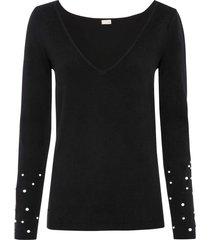maglione con perle (nero) - bodyflirt boutique