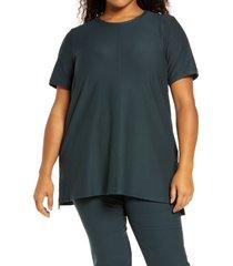 plus size women's eileen fisher short sleevetunic top, size 2x - blue