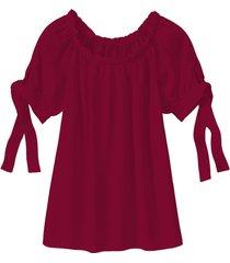 carmen blouse van tencel™ vezels, bourgogne 44